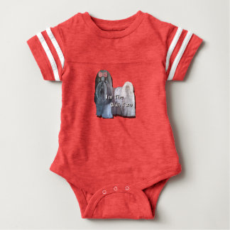 I'm the Shih Tzu - Infant's Football Onsie Baby Bodysuit