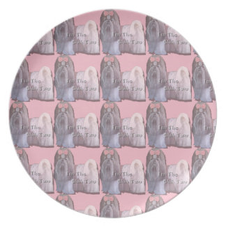 I'm the Shih Tzu - Pink Plate