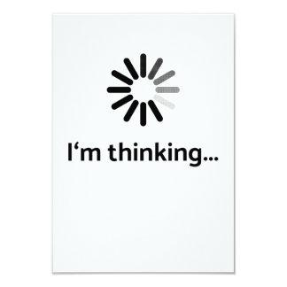 I'm thinking (loading | nerd) white background card