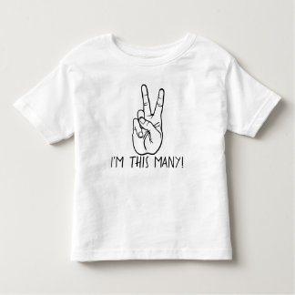 I'm This Many Birthday Shirt