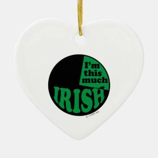 I'm This Much Irish - 25% Christmas Tree Ornament