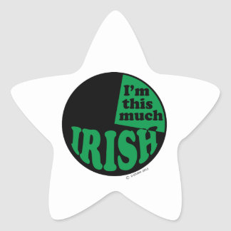 I'm This Much Irish - 25% Star Sticker