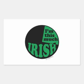 I'm This Much Irish - 25% Rectangular Stickers