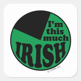 I'm This Much Irish - 75% Square Sticker