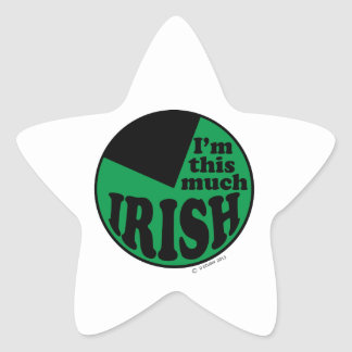 I'm This Much Irish - 75% Star Sticker