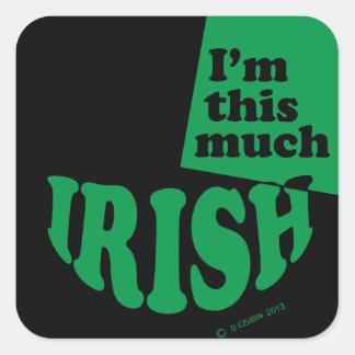I'm This Much Irish Sticker