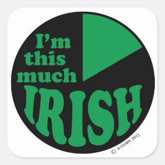 I'm This Much Irish Square Stickers