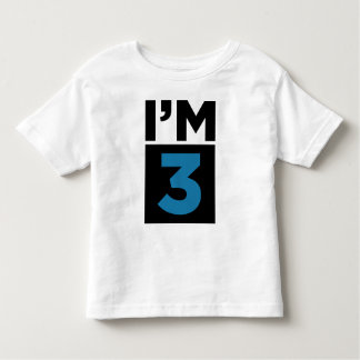 I'm Three Blue Third Birthday Shirt