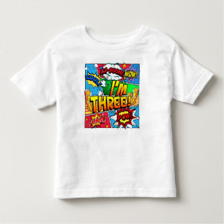 I'm Three Comic Book Toddler T-Shirt