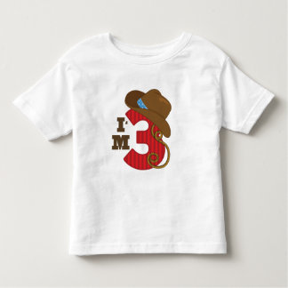 Im Three Cowboy Birthday Toddler T-Shirt