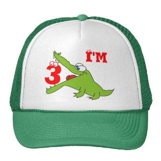 I'm Three Funny Crocodile Kids Hat