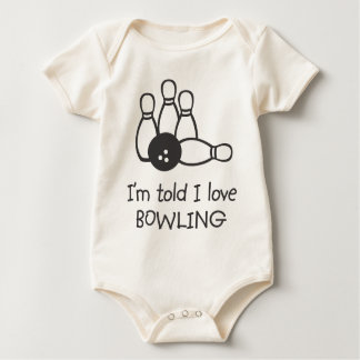 I'm told I love BOWLING Organic Infant Baby Bodysuit