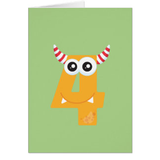 I'm Turning 4! Choose your own color & add text! Card
