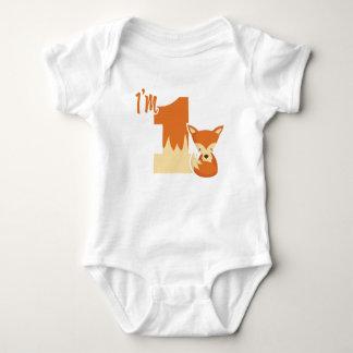 I'm turning one! baby bodysuit