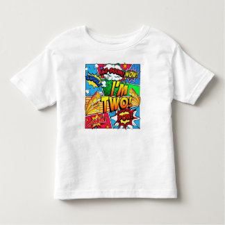 I'm Two Comic Book Toddler T-Shirt