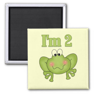 I'm Two-Green Frog Tshirts and Gifts Refrigerator Magnet