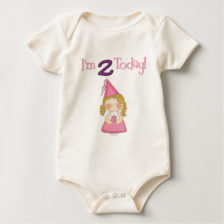 I'm TWO Today!  Princess Design Baby Bodysuit