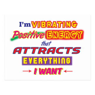 I'm Vibrating Positive Energy Postcard