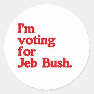 I'M VOTING FOR BUSH ROUND STICKERS