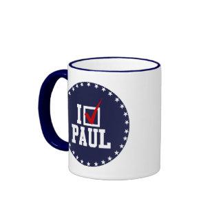 I'M VOTING FOR RON PAUL (white) Ringer Mug
