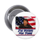 I'm Voting For Todd 6 Cm Round Badge