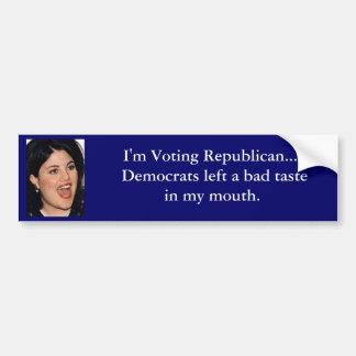 I'm Voting Republican... Bumper Sticker