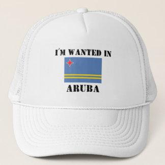 I'm Wanted In Aruba Trucker Hat