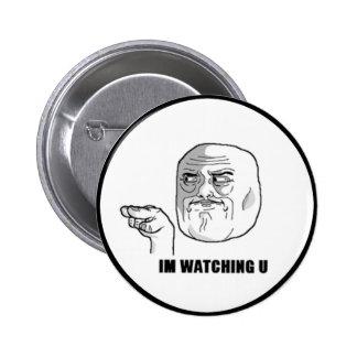 I'm Watching U Comic Face. Buttons