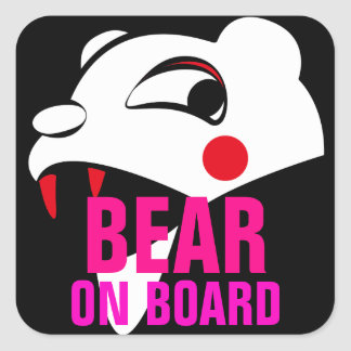 """  I'm watching you "" Bear Square Sticker"