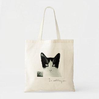 I'm watching you Cat sketch Tote Bag