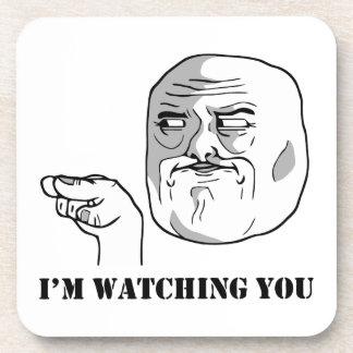 I'm watching you - meme coasters