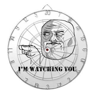 I'm watching you - meme dartboard with darts