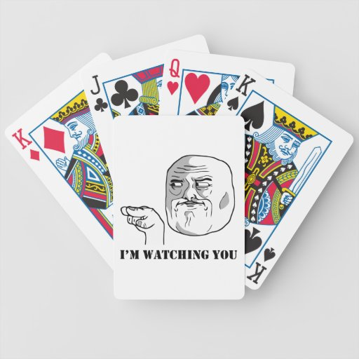 I'm watching you - meme bicycle card deck