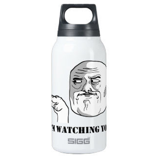 I'm watching you - meme 10 oz insulated SIGG thermos water bottle