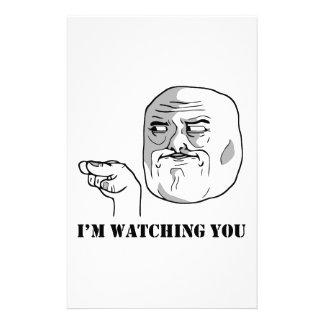 I'm watching you - meme customized stationery