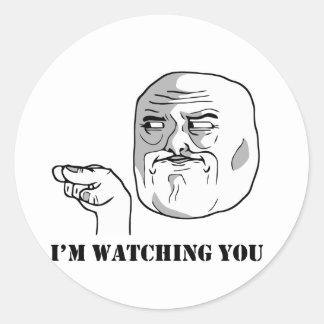 I'm watching you - meme round sticker