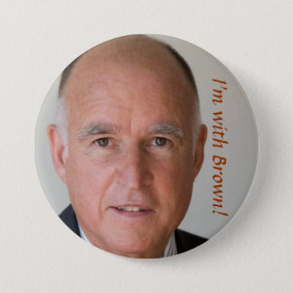, I'm with Brown! 7.5 Cm Round Badge