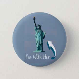 I'm With Her! 6 Cm Round Badge