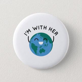 I'm With Her 6 Cm Round Badge