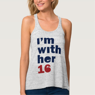 I'm With Her Hillary Womens Tank Top Racerback