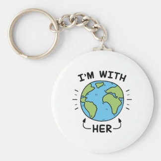 I'm With Her Key Ring