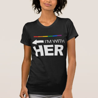 I'm with her (left) -.png tshirts