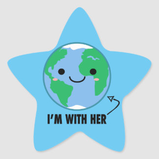 I'm With Her - Planet Earth Day Star Sticker