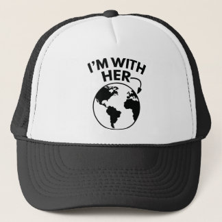 I'm With Her Trucker Hat