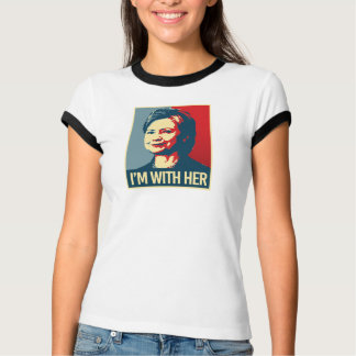 i'm with hillary poster - -  T-Shirt