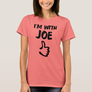 I'm With Joe Women's Basic T-shirt - Coral
