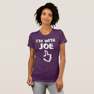 I'm With Joe Women's Fine Jersey TShirt - Eggplant