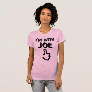 I'm With Joe Women's Fine Jersey TShirt - Pink