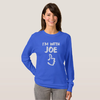 I'm With Joe women's long sleeve t-shirt - Blue