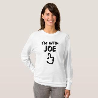 I'm With Joe women's long sleeve t-shirt - White